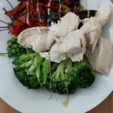 Easiest Way to Prepare Perfect Poached chicken breast and roasted veggies bowl