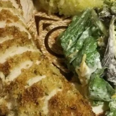 Easy Parmesan Crusted Chicken for 2.