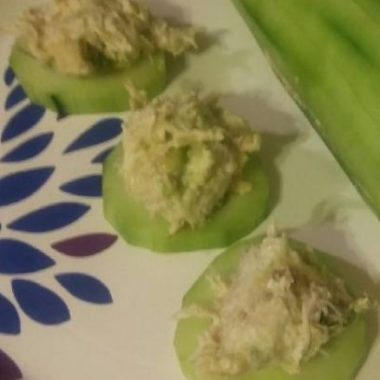 Low Carb Chicken Avocado Cucumber Boats