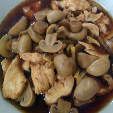 Simple Soy Sauce Chicken with Mushroom.
