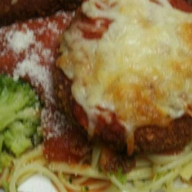 Yummy Chicken Parmesan with Broccoli and Linguine Easy