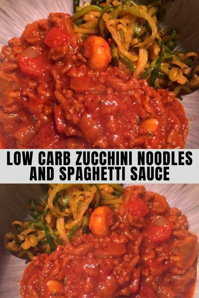 Low Carb Zucchini Noodles and Spaghetti Sauce (1)