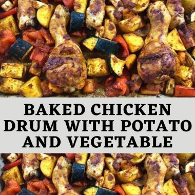 Baked Chicken Drum with Potato and Vegetable (1)