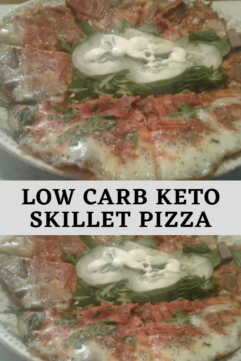 Low carb Keto skillet pizza (1)