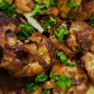 Keto Low Carb Jerk Chicken thighs