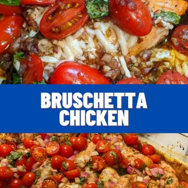 Bruschetta Chicken #quickrecipes #cheaprecipes #goodrecipes