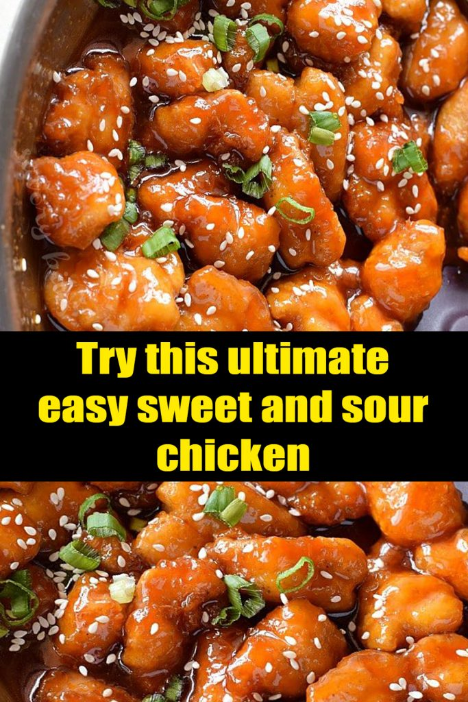 Try this ultimate easy sweet and sour chicken #chicken #dinner