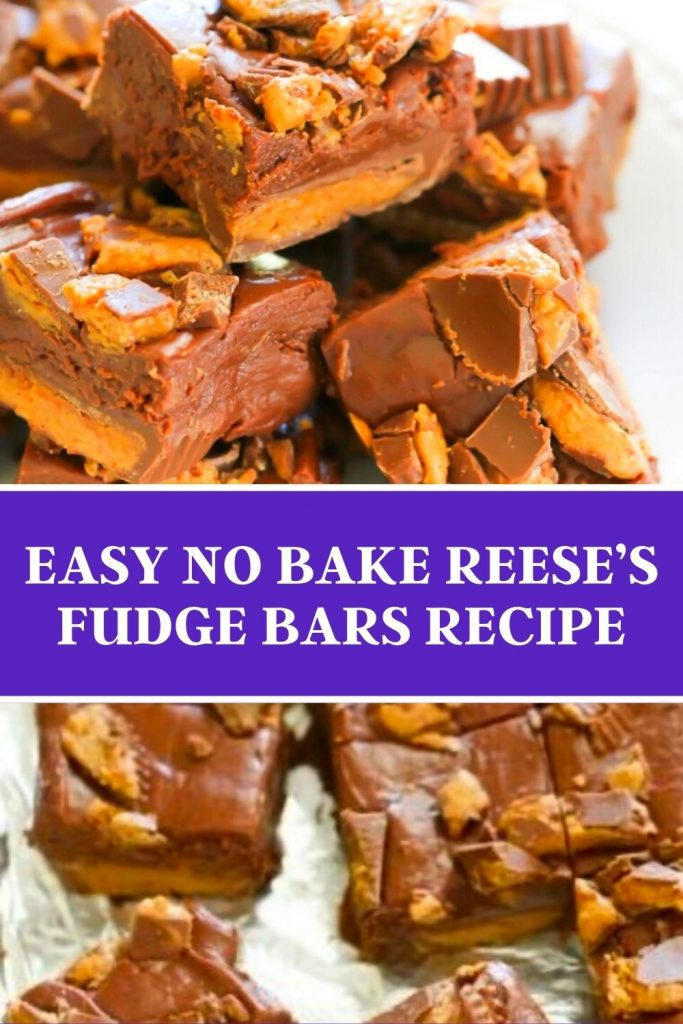 Easy No Bake Reese's Fudge Bars Recipe (1)