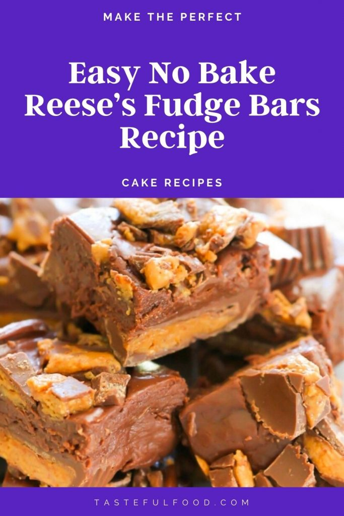 Easy No Bake Reese's Fudge Bars Recipe (2)