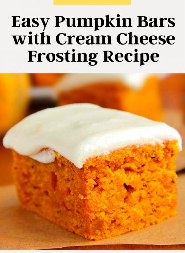 Easy Pumpkin Bars with Cream Cheese Frosting Recipe #Easy #Pumpkin #Bars #Cream #Cheese #Frosting #Recipe