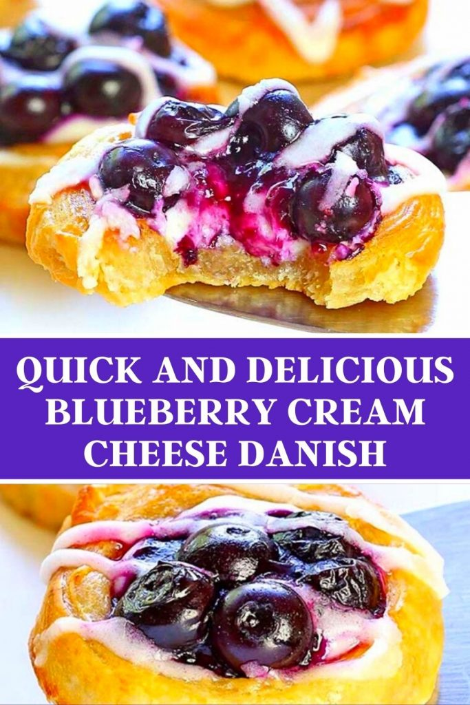 Quick and Delicious Blueberry Cream Cheese Danish #Delicious #Blueberry #Cream #Cheese #Danish #recipes